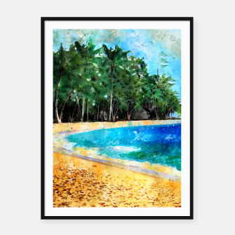 Thumbnail image of Magical Island Framed poster, Live Heroes