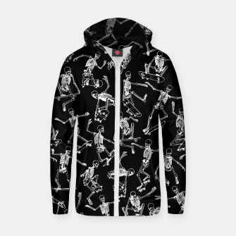 Thumbnail image of Grim Ripper BLACK Cotton zip up hoodie, Live Heroes