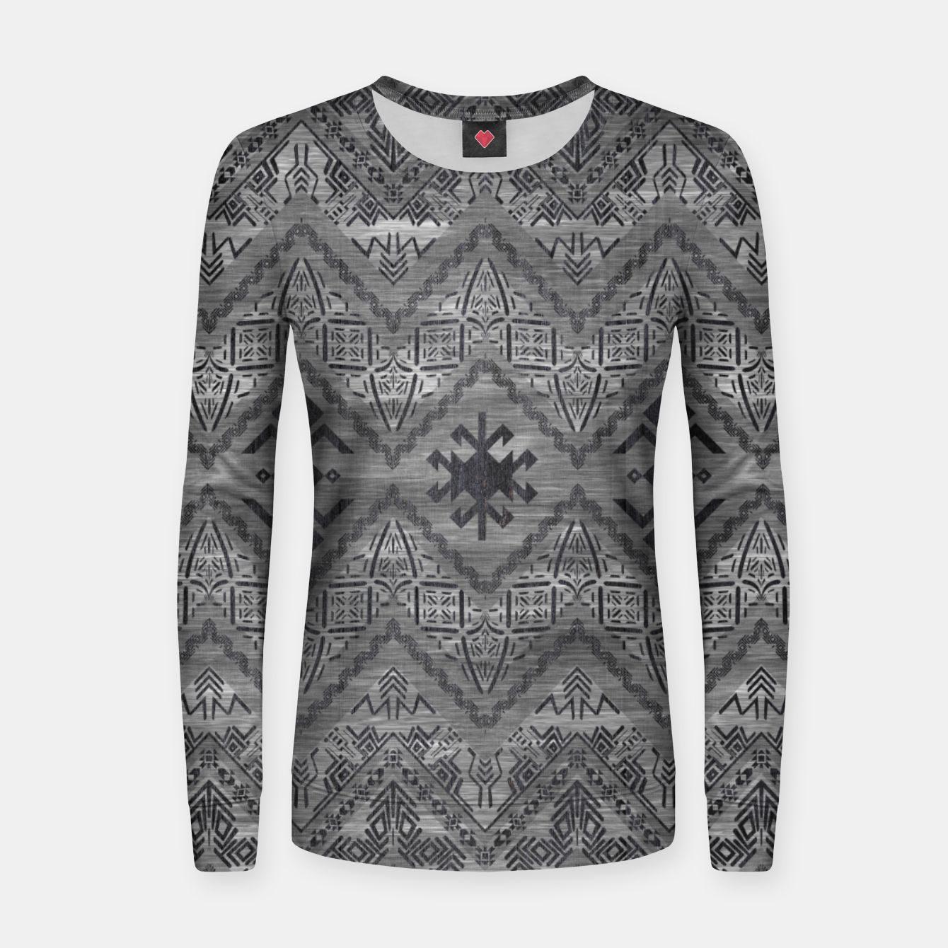 96e96b362715d5 Image of Tribal Ethnic Boho Pattern Wooden Texture Woman cotton sweater -  Live Heroes