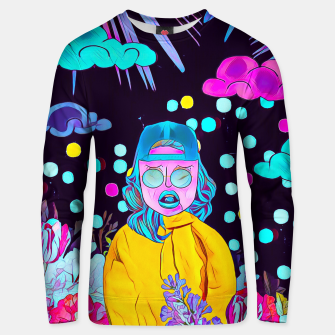 Thumbnail image of Clouds and floral Cotton sweater, Live Heroes
