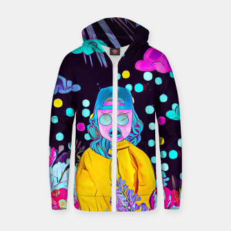 Thumbnail image of Clouds and floral Cotton zip up hoodie, Live Heroes