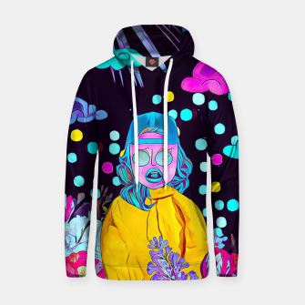 Thumbnail image of Clouds and floral Cotton hoodie, Live Heroes