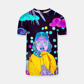 Thumbnail image of Clouds and floral T-shirt, Live Heroes