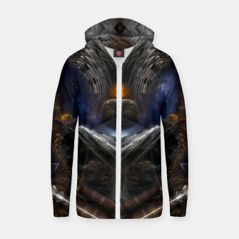 Thumbnail image of Steampunk Vision Fractal Art Cotton zip up hoodie, Live Heroes