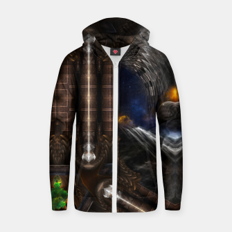Miniature de image de Steampunk Vision Fractal Art Cotton zip up hoodie, Live Heroes
