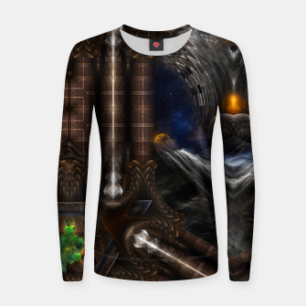 Miniature de image de Steampunk Vision Fractal Art Woman cotton sweater, Live Heroes