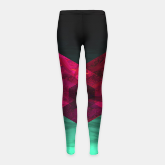 Thumbnail image of Heart of the deep ocean by #Bizzartino Girl's leggings, Live Heroes