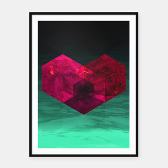 Thumbnail image of Heart of the deep ocean by #Bizzartino Framed poster, Live Heroes