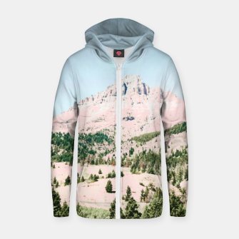 Thumbnail image of Happy Mountain Cotton zip up hoodie, Live Heroes