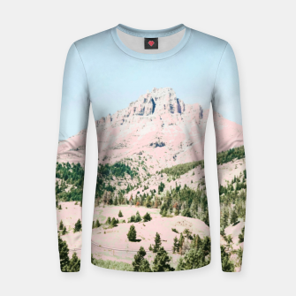 Thumbnail image of Happy Mountain Woman cotton sweater, Live Heroes