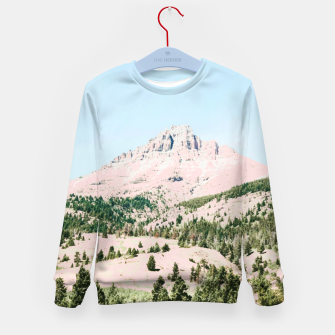 Thumbnail image of Happy Mountain Kid's sweater, Live Heroes