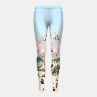 Thumbnail image of Happy Mountain Girl's leggings, Live Heroes