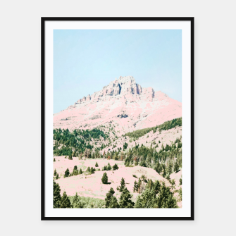 Thumbnail image of Happy Mountain Framed poster, Live Heroes