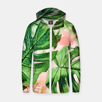 Thumbnail image of Monstera Beauty Cotton zip up hoodie, Live Heroes