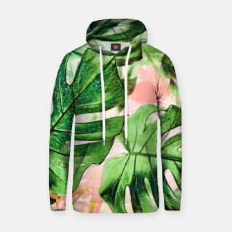 Thumbnail image of Monstera Beauty Cotton hoodie, Live Heroes
