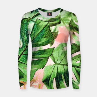 Thumbnail image of Monstera Beauty Woman cotton sweater, Live Heroes
