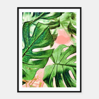 Thumbnail image of Monstera Beauty Framed poster, Live Heroes