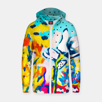 Thumbnail image of Floral Graffiti Cotton zip up hoodie, Live Heroes