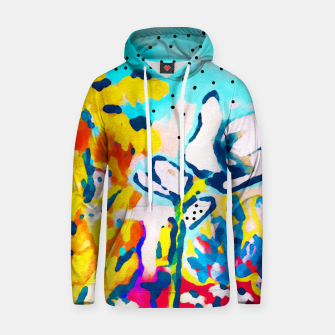 Thumbnail image of Floral Graffiti Cotton hoodie, Live Heroes