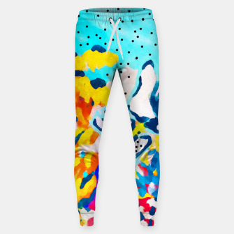 Thumbnail image of Floral Graffiti Cotton sweatpants, Live Heroes