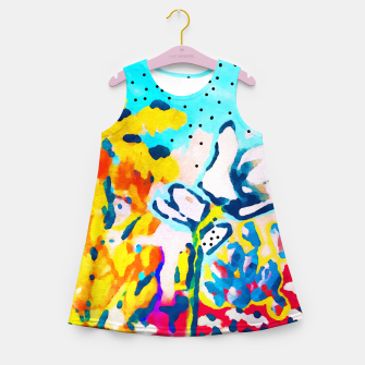 Thumbnail image of Floral Graffiti Girl's summer dress, Live Heroes