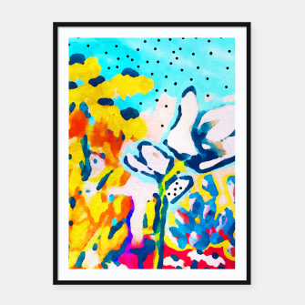 Thumbnail image of Floral Graffiti Framed poster, Live Heroes