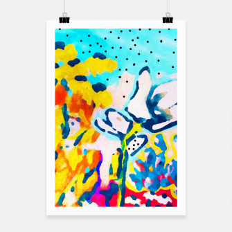 Thumbnail image of Floral Graffiti Poster, Live Heroes