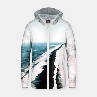 Thumbnail image of Pink Sand Cotton zip up hoodie, Live Heroes