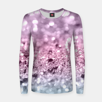 Thumbnail image of Unicorn Girls Glitter #7 #shiny #pastel #decor #art Frauen baumwoll sweatshirt, Live Heroes