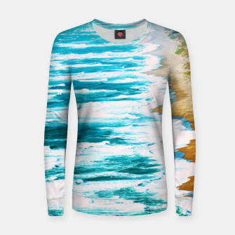 Thumbnail image of Live By The Sea Woman cotton sweater, Live Heroes