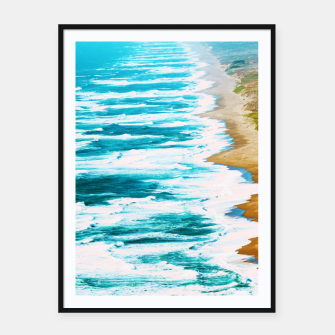 Thumbnail image of Live By The Sea Framed poster, Live Heroes