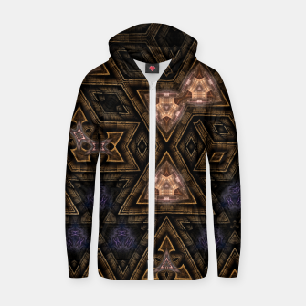 Thumbnail image of Stanasis Cubes Cotton zip up hoodie, Live Heroes