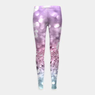 Thumbnail image of Unicorn Girls Glitter #7 #shiny #pastel #decor #art Kinder-Leggins, Live Heroes