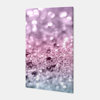 Thumbnail image of Unicorn Girls Glitter #7 #shiny #pastel #decor #art Canvas, Live Heroes