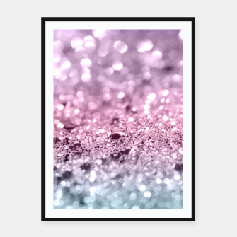 Thumbnail image of Unicorn Girls Glitter #7 #shiny #pastel #decor #art Plakat mit rahmen, Live Heroes