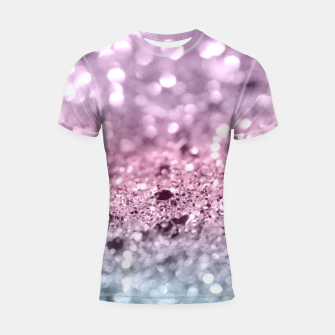 Thumbnail image of Unicorn Girls Glitter #7 #shiny #pastel #decor #art Shortsleeve rashguard, Live Heroes