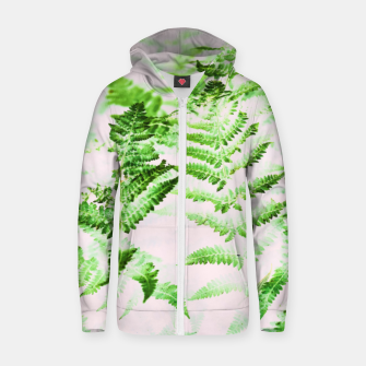 Thumbnail image of Fern Forest Cotton zip up hoodie, Live Heroes