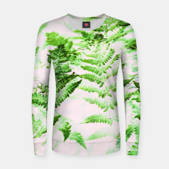 Thumbnail image of Fern Forest Woman cotton sweater, Live Heroes