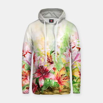 Thumbnail image of Watercolor Basket Lilies Cotton hoodie, Live Heroes