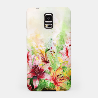 Thumbnail image of Watercolor Basket Lilies Samsung Case, Live Heroes