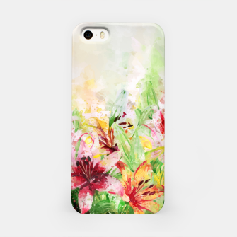 Thumbnail image of Watercolor Basket Lilies iPhone Case, Live Heroes