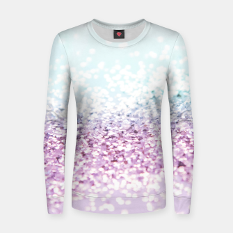 Thumbnail image of Mermaid Girls Glitter #1 #shiny #pastel #decor #art Frauen baumwoll sweatshirt, Live Heroes
