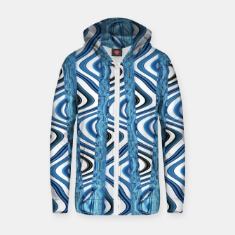 Thumbnail image of 3D Blues Cotton zip up hoodie, Live Heroes