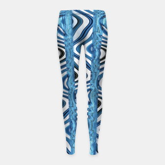 Thumbnail image of 3D Blues Girl's leggings, Live Heroes