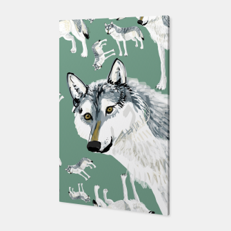 Thumbnail image of Totem Alberta Wolf Canvas, Live Heroes