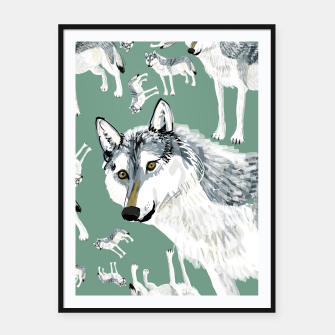 Thumbnail image of Totem Alberta Wolf Cartel con marco, Live Heroes