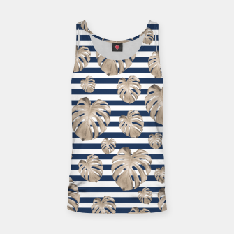 Thumbnail image of Monstera Pattern on Stripes #1 #tropical #pattern #decor #art Muskelshirt , Live Heroes