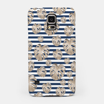 Thumbnail image of Monstera Pattern on Stripes #1 #tropical #pattern #decor #art Handyhülle für Samsung, Live Heroes