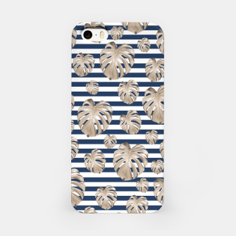 Thumbnail image of Monstera Pattern on Stripes #1 #tropical #pattern #decor #art iPhone-Hülle, Live Heroes