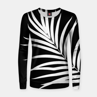 Thumbnail image of Tropical Palm Leaf #2 #botanical #decor #art Frauen baumwoll sweatshirt, Live Heroes